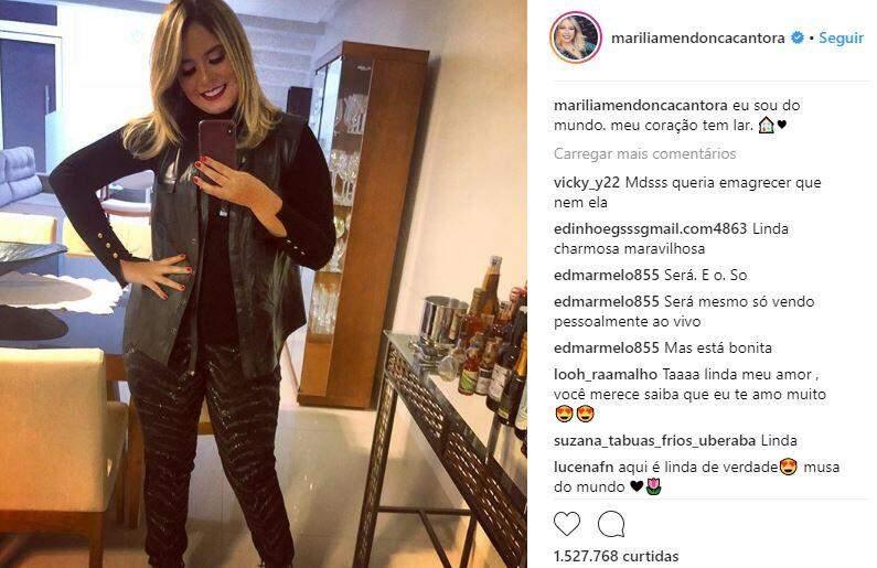 Marília Mendonça / Reprodução : Instagram