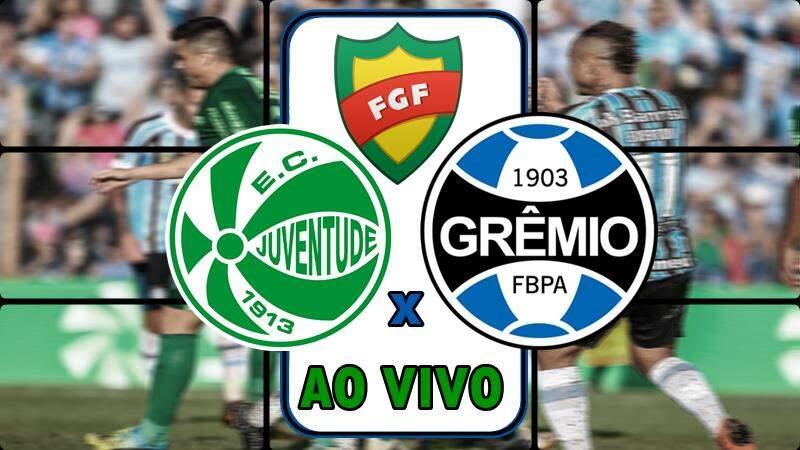 Jogo do Grêmio x Juventude ao vivo. Foto/Montagem