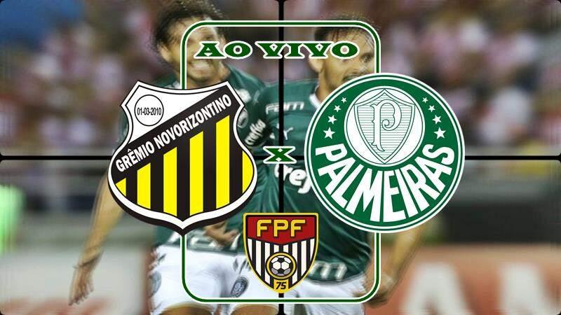Jogo Novorizontino x Palmeiras ao vivo. Foto/Montagem