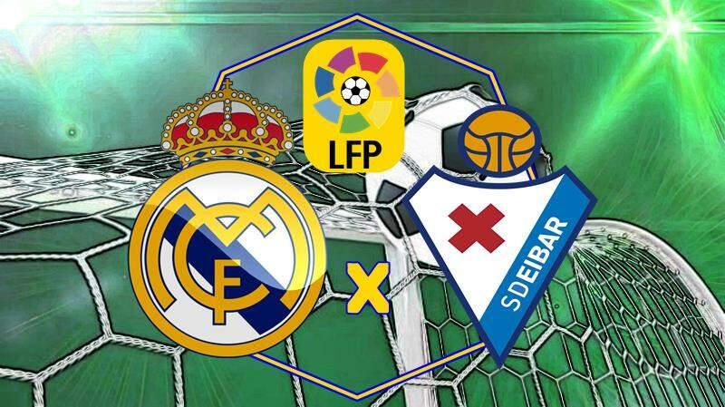 jogo Real Madrid e Eibar ao vivo. Foto/Montagem