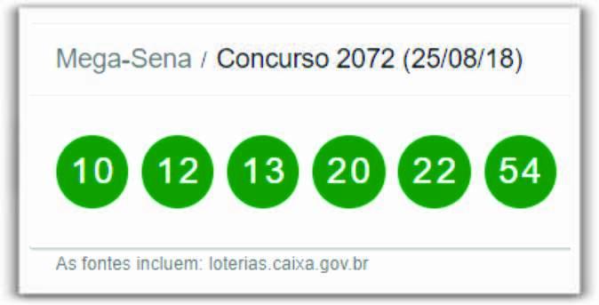 Resultado da Mega_Sena Concurso 2072 deste sábado (25) de agosto de 2018