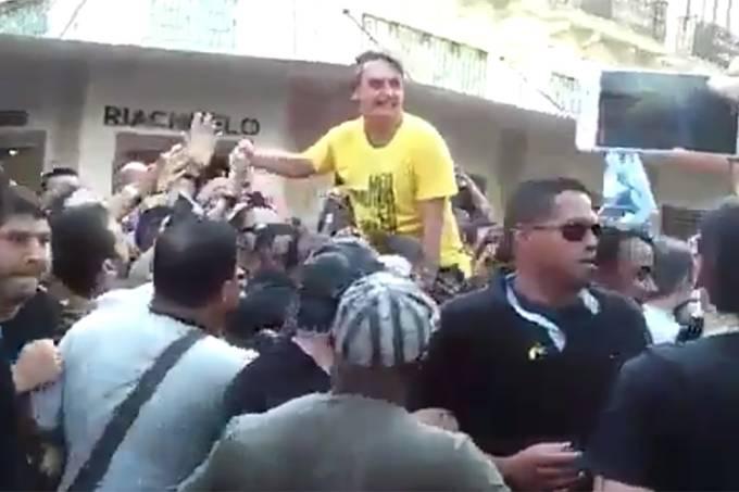 Bolsonaro é esfaqueado (Twitter/Reprodução)