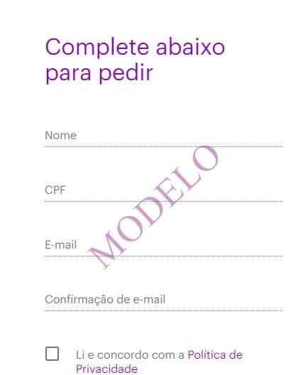 Formulário do Cartão Nubank como solicitar (Foto/Ilustração)