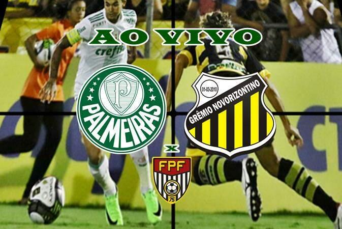 Assistir Palmeiras x Novorizontino ao vivo online nesta quarta-feira. Foto/Montagem