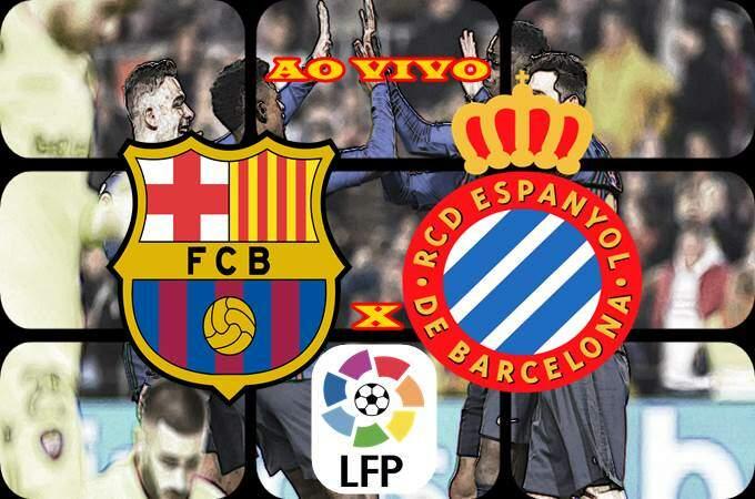 Onde assistir o jogo do Barcelona e Espanyol ao vivo online. Foto/Montagem
