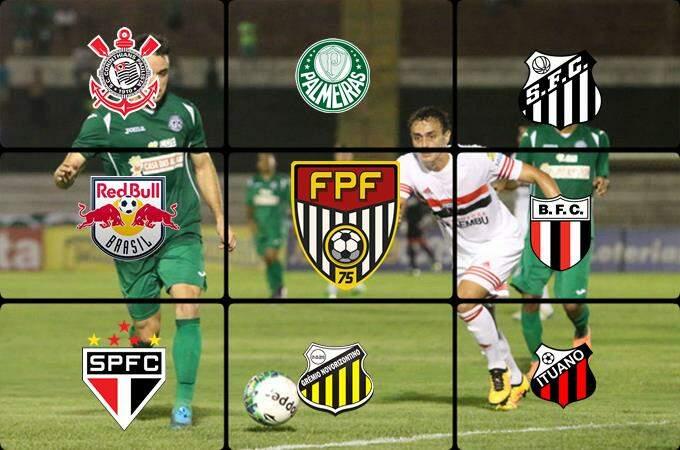 Classificação do Campeonato Paulista jogos desta quarta-feira ao vivo. Foto/Montagem
