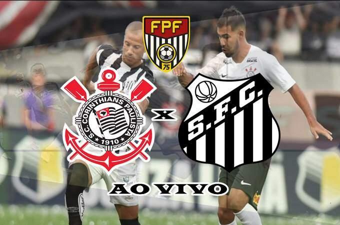 Veja onde vai passar o jogo Corinthians e Santos ao vivo hoje. Foto/Montagem
