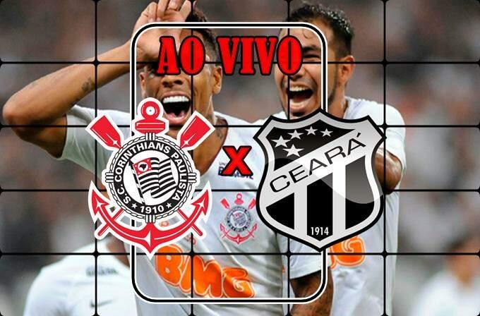 jogo do Corinthians x Ceara ao vivo online. Foto/Montagem
