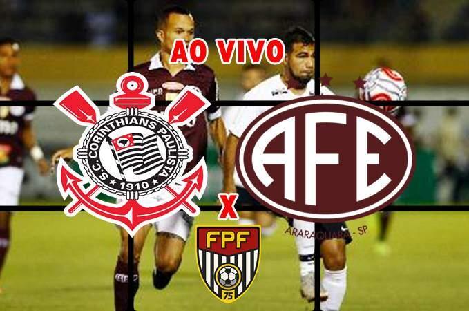Corinthians x Ferroviária ao vivo online. Foto/Montagem