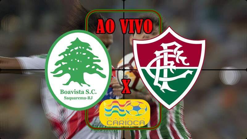 Fluminense x Boavista ao vivo. foto/Montagem