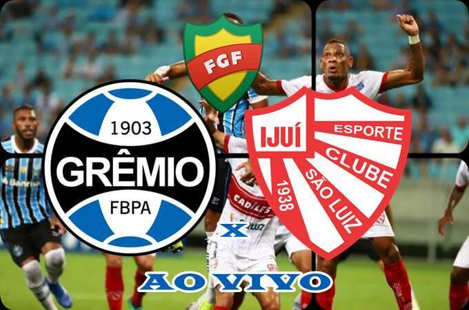 Jogo Grêmio e São Luiz AO VIVO online. Foto/Montagem