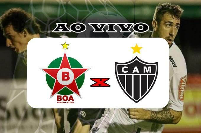 Jogo Boa Esporte x Atlético ao vivo. Foto/Montagem