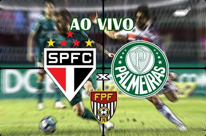 Onde assistir o jogo do São Paulo x Palmeiras ao vivo online. Foto/Montagem