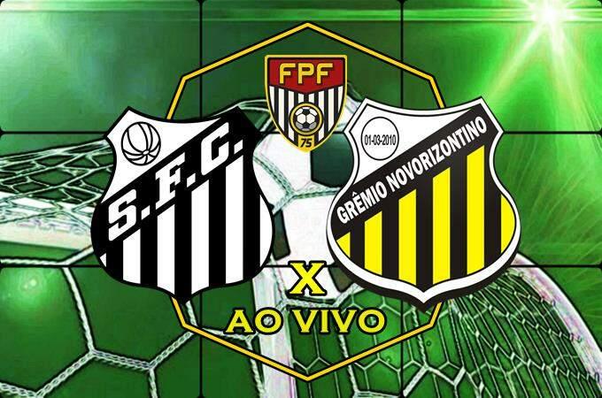 Onde assistir o Jogo do Santos x Novorizontino ao vivo online. Foto/Montagem