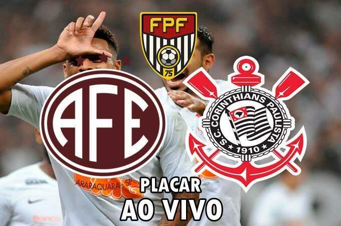 Placar de Ferroviária e Corinthians AO VIVO online. Foto/Montagem