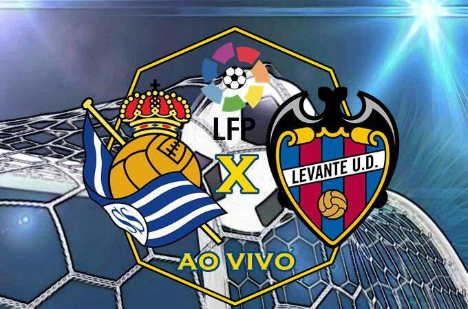 Assistir Real Sociedad x Levante ao vivo online. Foto/Montagem