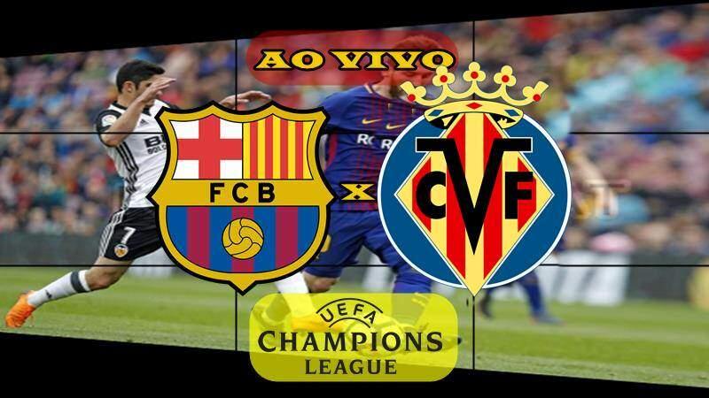 Jogo do Barcelona x Villarreal ao vivo. foto/Montagem