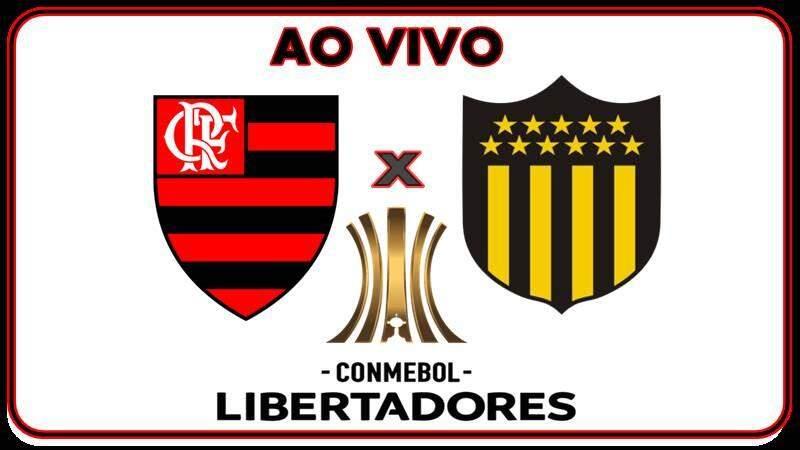 Jogo do Flamengo x Penarol na Libertadores hoje. Foto/Montagem