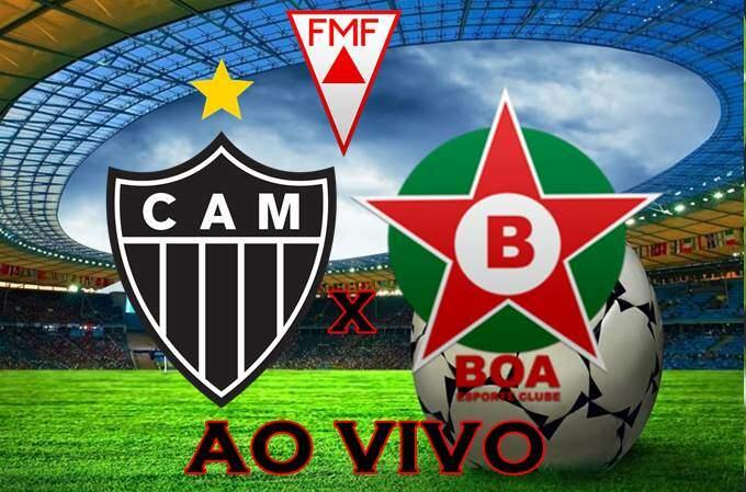 Onde assistir o Jogo Atlético-MG e Boa Esporte ao vivo online. foto/Montagem