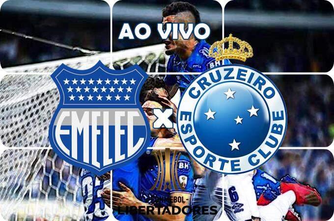 Jogo do Cruzeiro ao vivo: Emelec e Cruzeiro ao vivo online pela Libertadores. Foto/Montagem