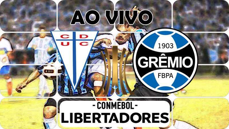 Jogo Universidad Católica x Grêmio ao vivo. Foto/Montagem