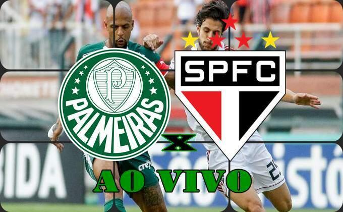 Jogo do PalmeIras x São Paulo ao vivo online hoje. foto/Montagem