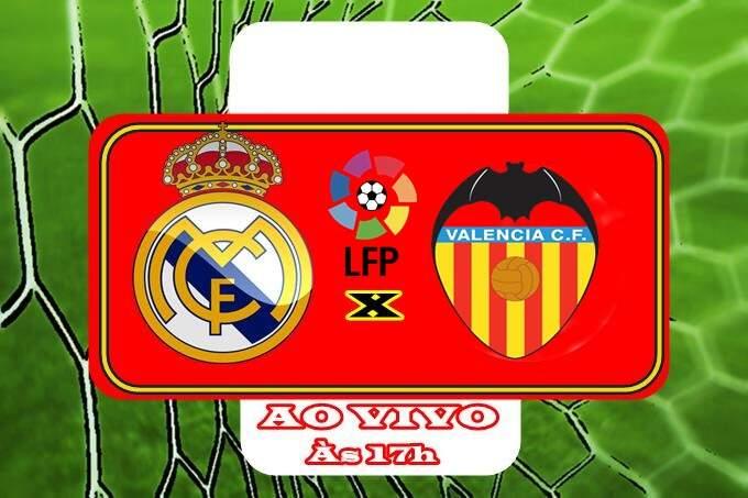 Jogo do Real Madrid x Valência ao vivo online. Foto/Montagem
