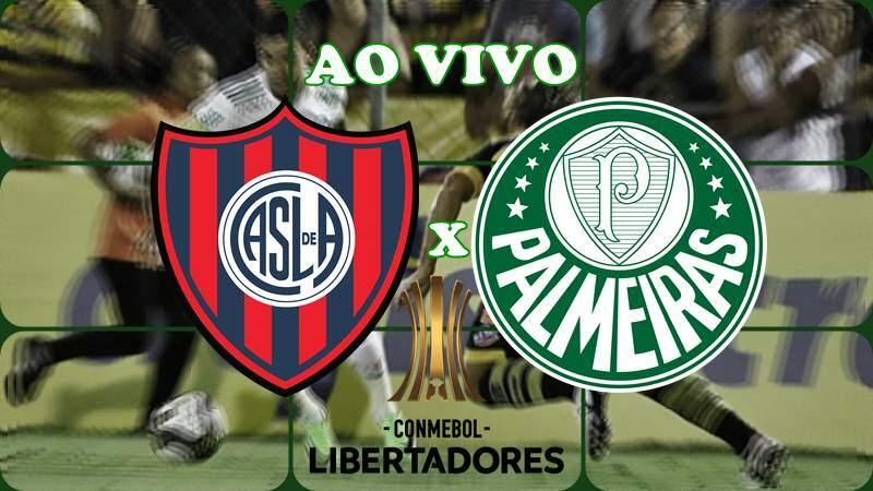 jogo da Libertadores: San Lorenzo X Palmeiras ao vivo online Libertadores. Foto/Montagem