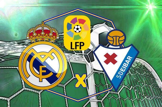 Onde assistir jogo Real Madrid e Eibar ao vivo online. foto/Montagem