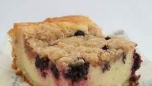bolo de amora com cobertura; receita para o café da manhã