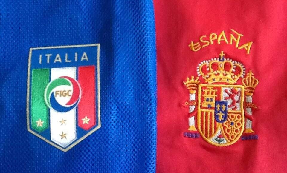 Itália e Espanha fazem confronto histórico pela semifinal da Eurocopa. Imagem: Reprodução/Ricardo Zanei